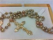 14K 2 Tone Gold 38.8g rosery beads